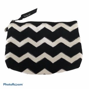 Thirty-one Mini Zipper Pouch Black Chevron Print